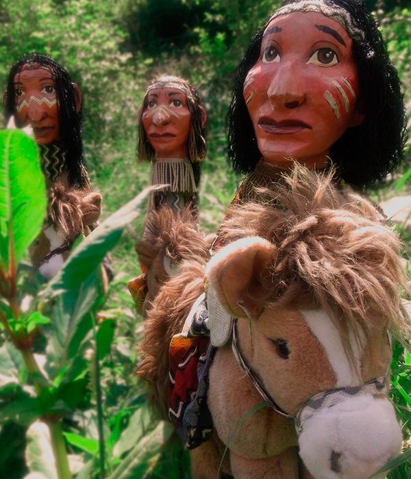 Portrait Indianer Puppe